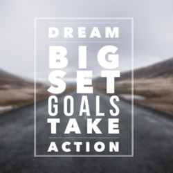 Inspirational quote about goal setting used in an article providing tips for CAT mock test series