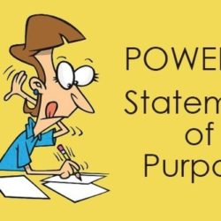 Image of person working on his statement of purpose