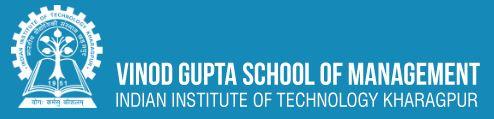 Vinod Gupta School of Management IIT Kharagpur Logo